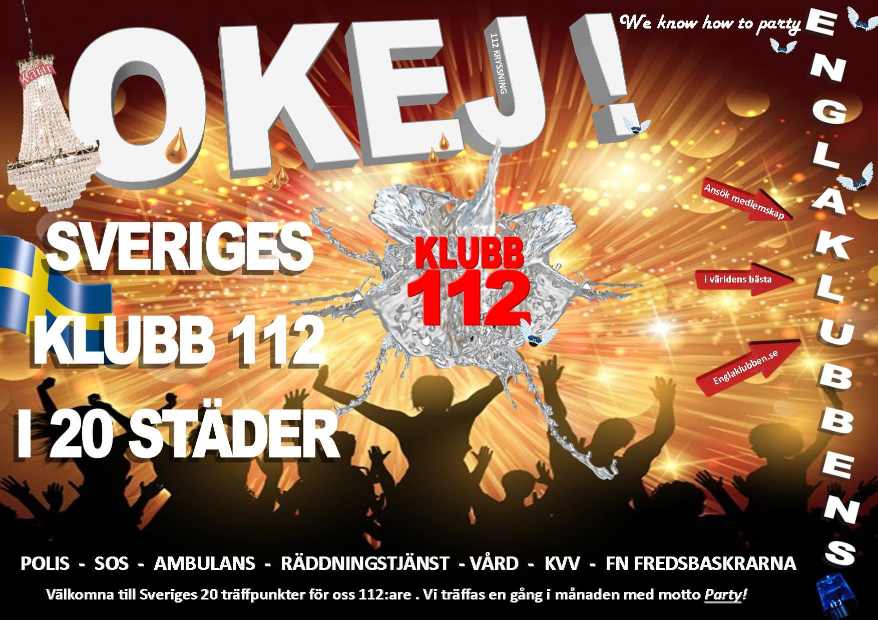 Sverige NY 112 KLUBB INBJUDAN