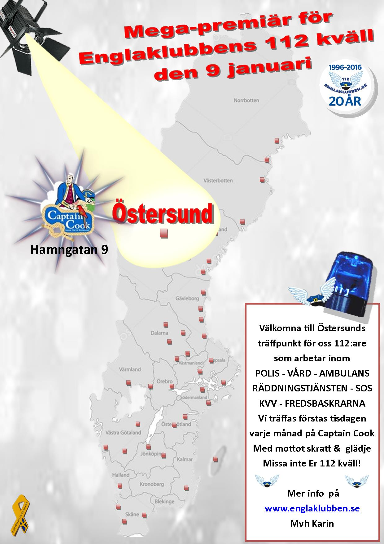 Östersund Englaklubbens 112 kväll inbjudan