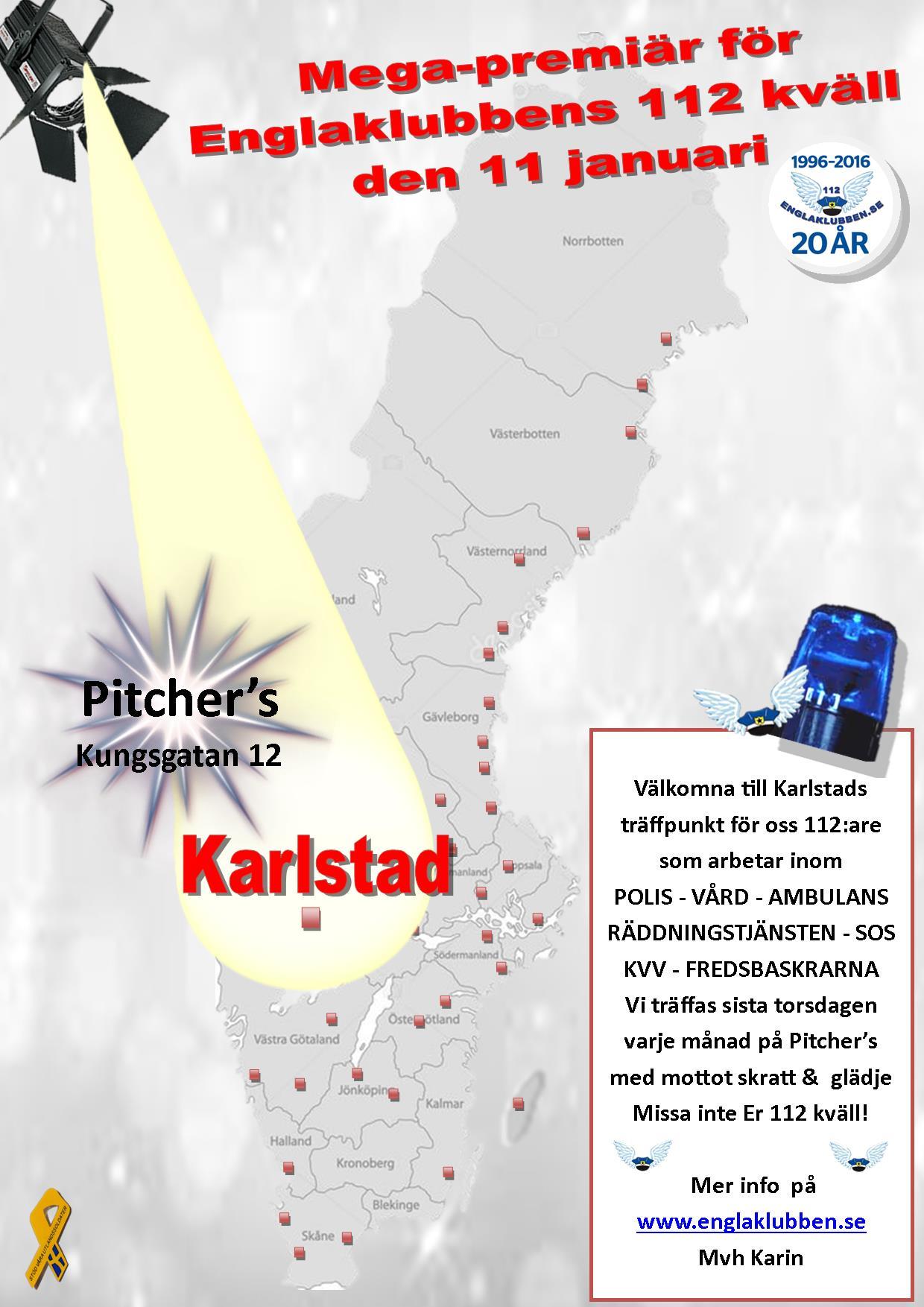 Karlstad Englaklubbens 112 kväll inbjudan