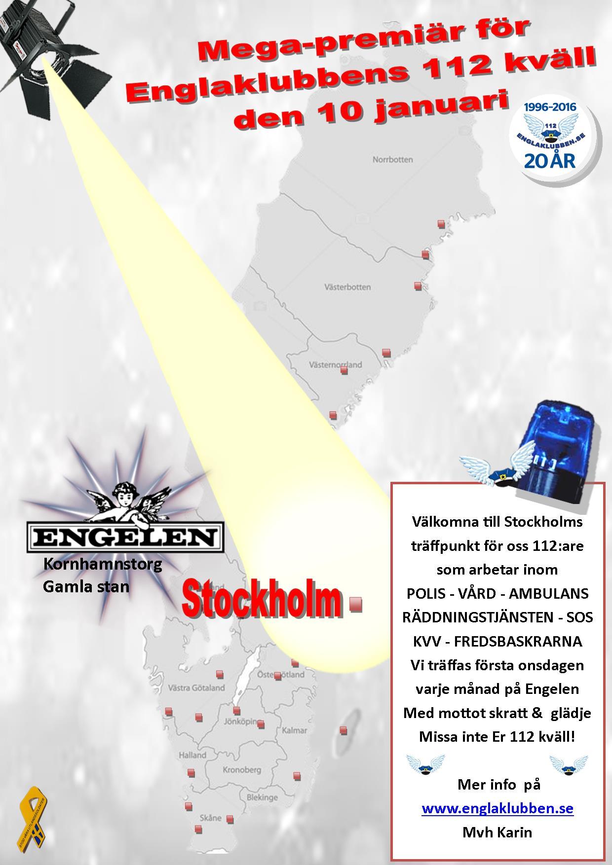 Stockholm Englaklubbens 112 kväll inbjudan